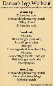 dancer's legs workout