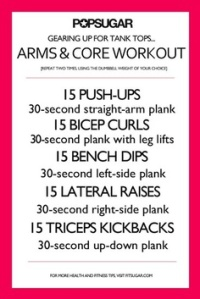 pop sugar arms and core workout