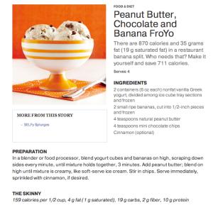 PB Banana Chocolate Frozen Yogurt